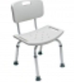 BATH SEAT W/ BACK SNGL PACK PLATINUM COL LUMEX