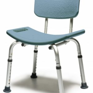 BATH SEAT W/BACK STEEL BLUE LUMEX 1 EA UNASSEMBLED
