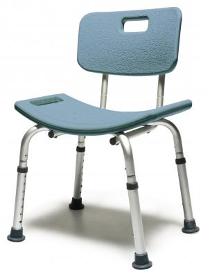 BATH SEAT W/BACK STEEL BLUE LUMEX 1 EA UNASSEMBLED