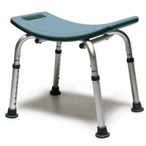 BATH SEAT W/OUT BCK STEEL BLUE LUMEX 1 EA UNASSEMBLED