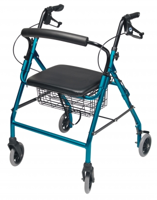 ROLLATOR ALUM WIDE AQUA WALKABOUT WIDE