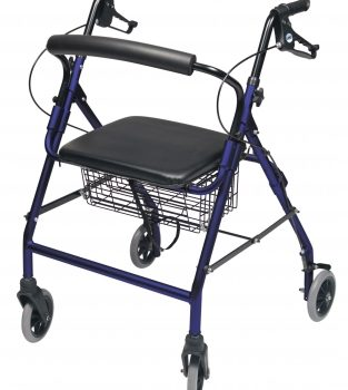 ROLLATOR ALUM WIDE ROYAL BLUE WALKABOUT WIDE