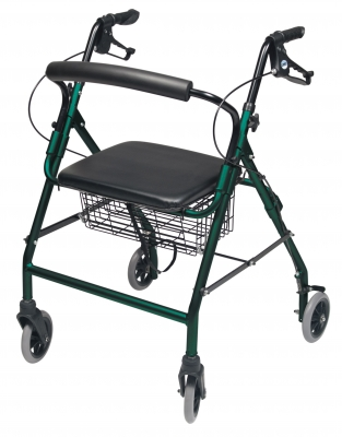 ROLLATOR ALUM WIDE TEAL GREEN WALKABOUT WIDE