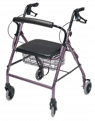 ROLLATOR ALUM WIDE LAVENDER WALKABOUT WIDE