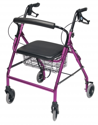 ROLLATOR ALUM WIDE PINK WALKABOUT WIDE