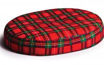 RING CUSHION RED PLAID LUMEX