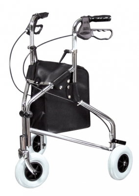 ROLLATOR CHROME THREE WHEELED LUMEX