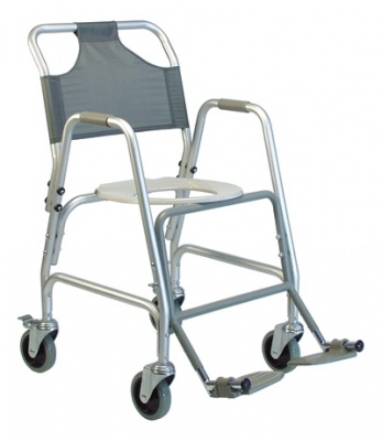 SHOWER CHAIR ALUM W/FT RST LUMEX