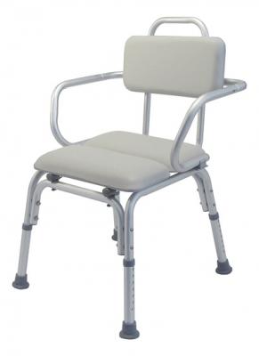 BATH SEAT PADDED W/ARMS PLATINUM COL LUMEX