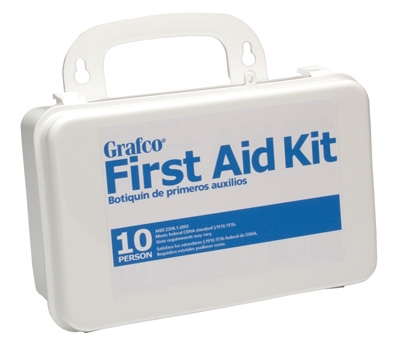 FIRST AID KIT PLTIC-10 PERSON GRAFCO