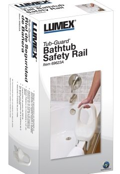 BATHTUB SAFETY RAIL TUB-GUARD LUMEX 1 EA (69623A)